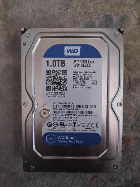 """Disco duro interno wd blue 1tb 3,5"""" sata3"""