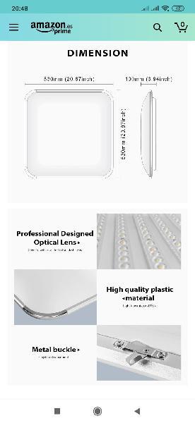 Lámpara techo mando regulable led