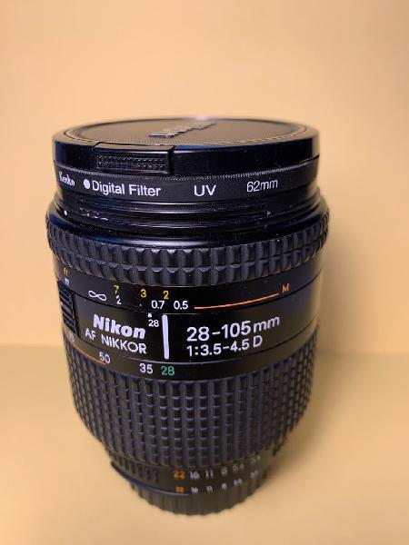 Objetivo nikon 28-105mm con macro