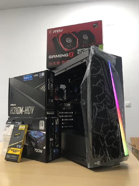 Pc gaming full hd intel i3 9100f y gtx 1050