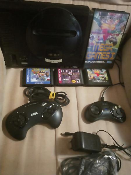 Sega megadrive + 5 juegos