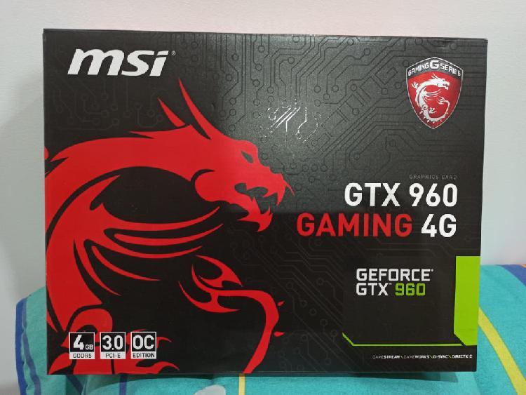 Tarjeta gráfica msi geforce gtx 960 gaming 4gb gdd