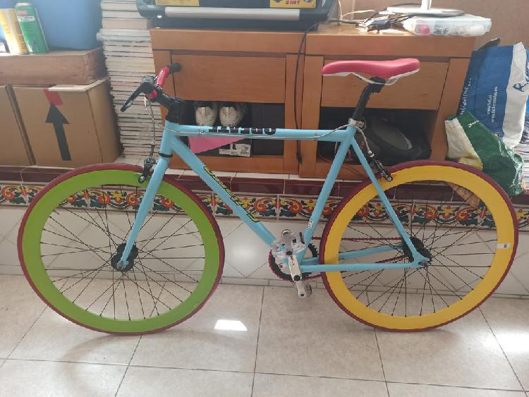 Fixie bicicleta colores