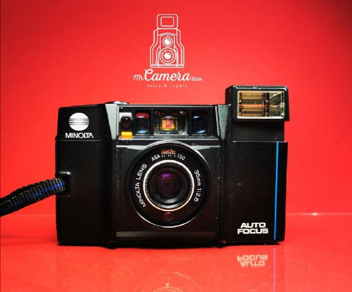 Minolta af 35mm 2.8f cámara analógica