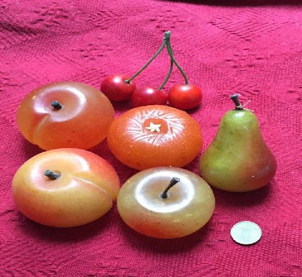 Juego 6 frutas alabastro