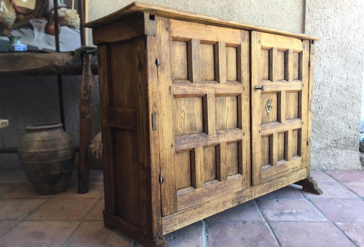 Mueble taquillón castellano en madera maciza - recibidor,