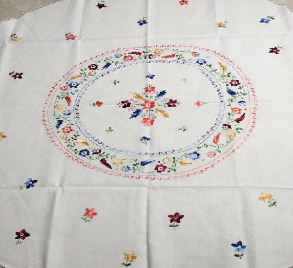 N1 mantel 6med redondo colores dibujado 1,55m2 loneta