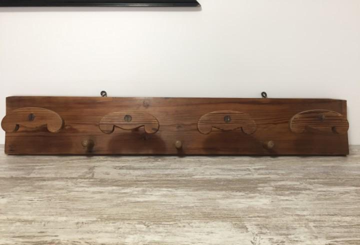 Perchero madera rustico pirineo