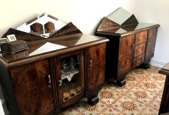 Aparador, mesa y sillas art decó