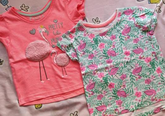 Lote camisetas niña 12-18 meses