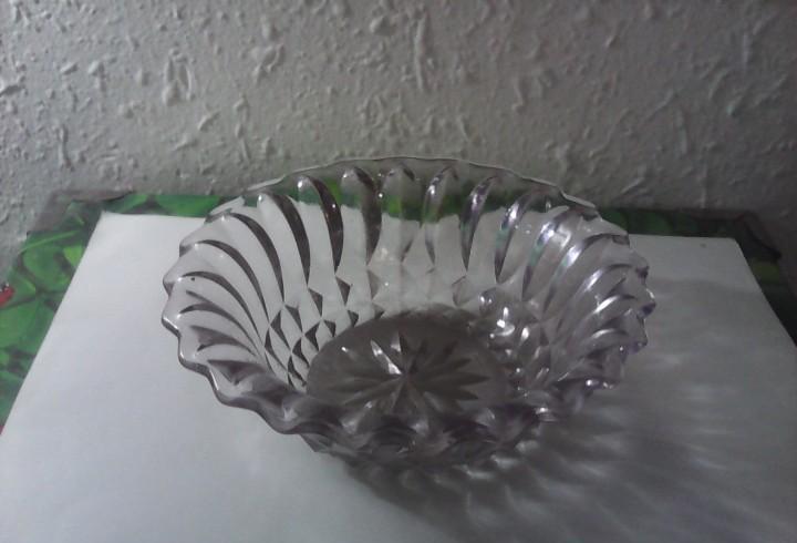 Plato bol cuenco cristal prensado 19 cm diametro