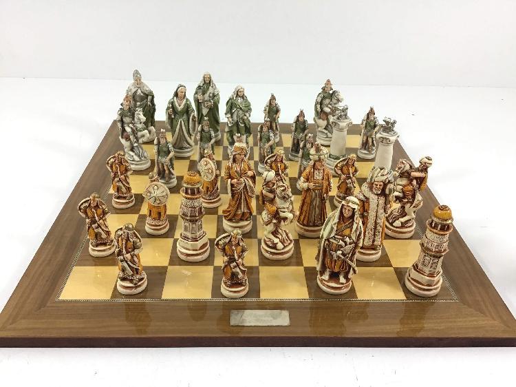 Set tablero fichas ajedrez soldados