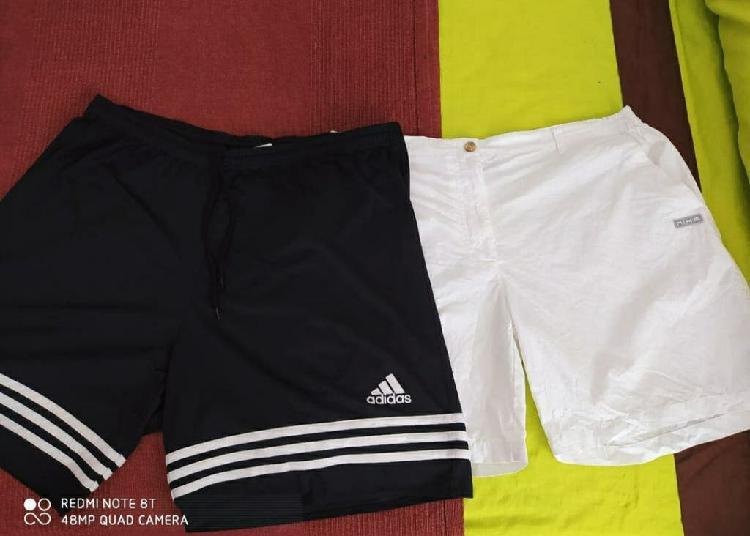 2 pantalones cortos ( adidas y nike)