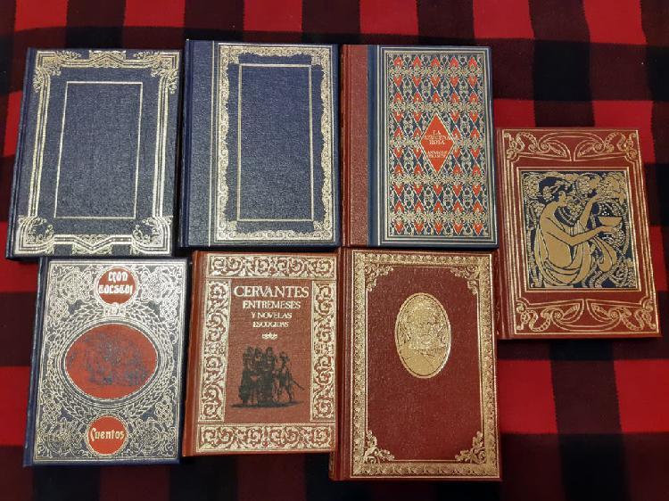 7 libros tapa dura similar piel