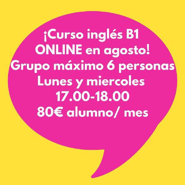 Curso inglés b1 online en agosto!