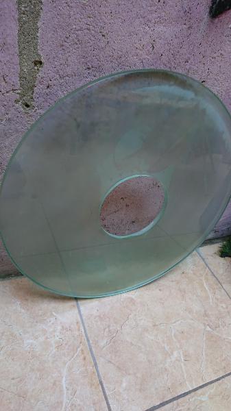 Encimera redondo cristal