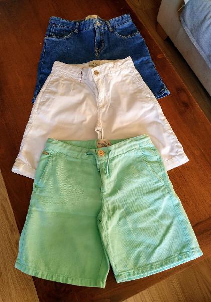 Massimo dutti. 3 pantalones cortos t/9