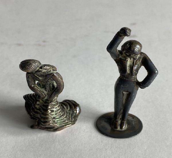 Pareja bailadores,figuras de plata. mediados s.xx.