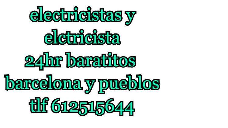 Electricistas en barcelona baratitos 24hr
