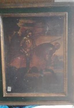 Composición caballero con caballo