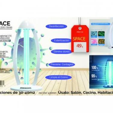 Lampara desinfectante space uv+ozono