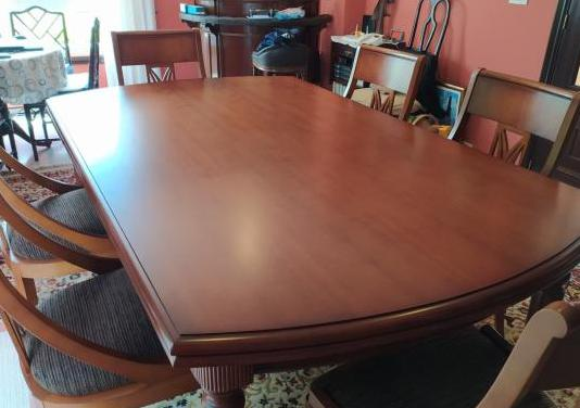 Mesa madera maciza 8 sillas