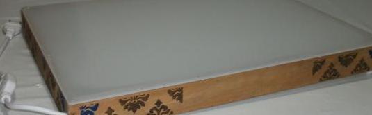 Mesa de luz nueva de 45,5x33 cm para dibujar