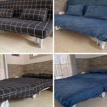 Sofá cama incluye 2 modelos de fundas