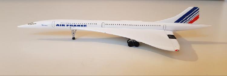 Avión miniatura de metal concorde de air france