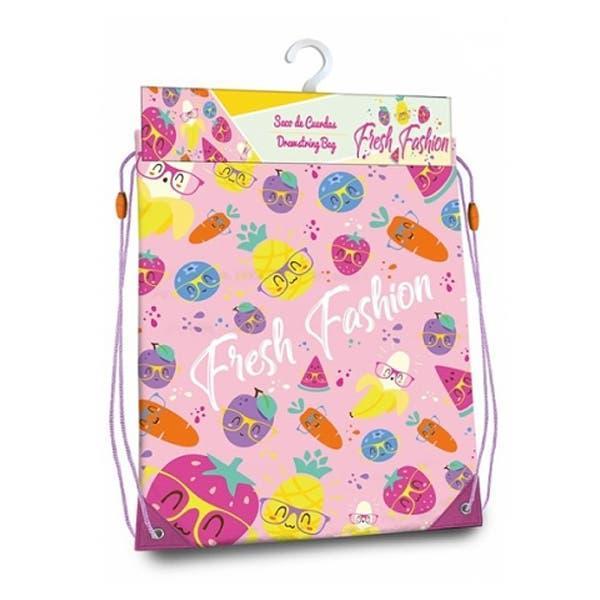 Bolsa mochila con cuerdas fresh fashion