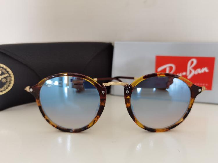 Gafas de sol rayban round fleck azul flash