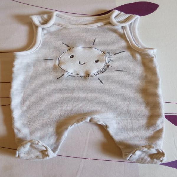 Peto/pijama bebé sol talla 1-3 meses
