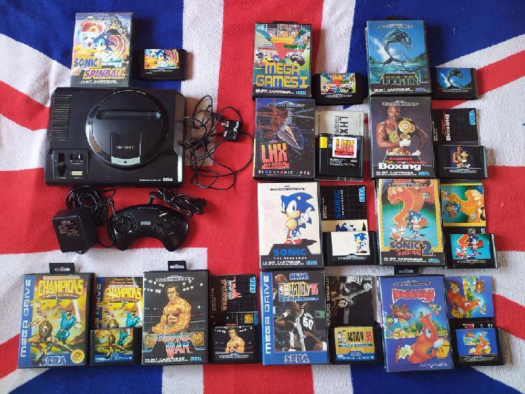 Sega megadrive + 12 juegos