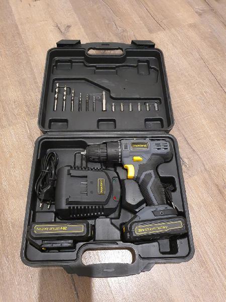 Taladro atornillador nuevo con 2 baterias de 20v
