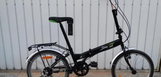 Bicicleta plegable nueva con accesorios