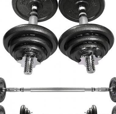 Mancuernas ajustables 20kg conjunto con pesas