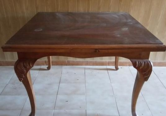 Mesa salón madera torneada vintage
