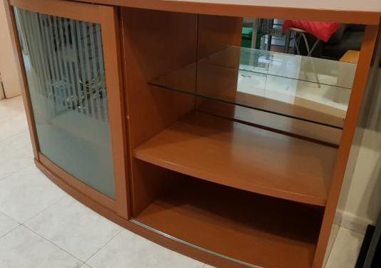 Mueble de comedor y tv madera maciza