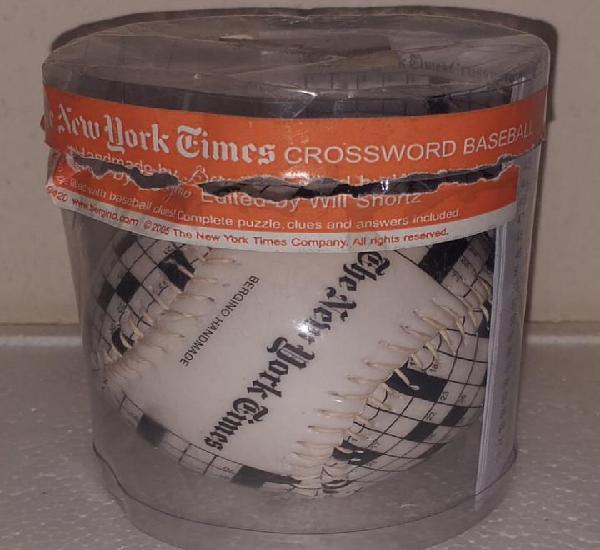 Pelota de beisbol baseball del periodico the new york times