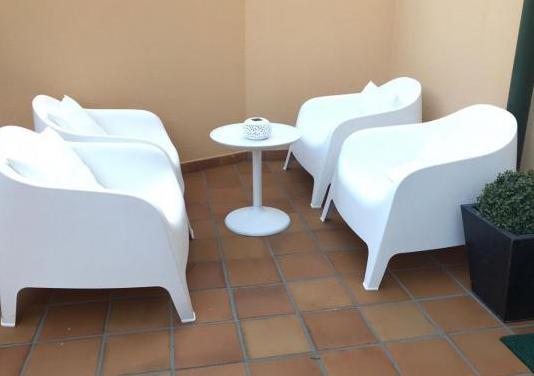 Sillones (4) jardin terraza blancos