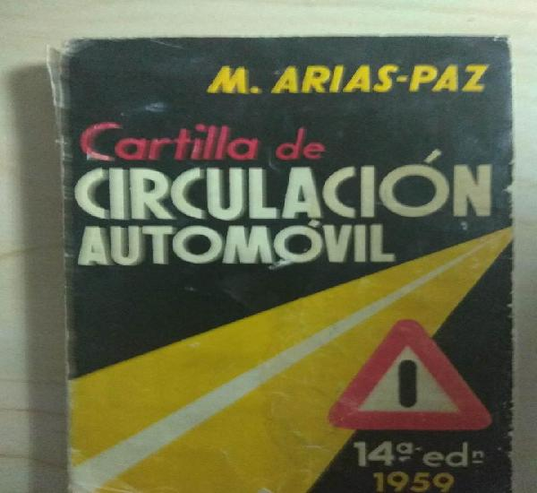 Año 1959 - cartilla de circulacion automovil - 14ª edicion