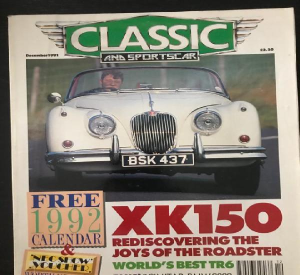 Classic and sportscar - diciembre 1991 - jaguar xk 150 bmw