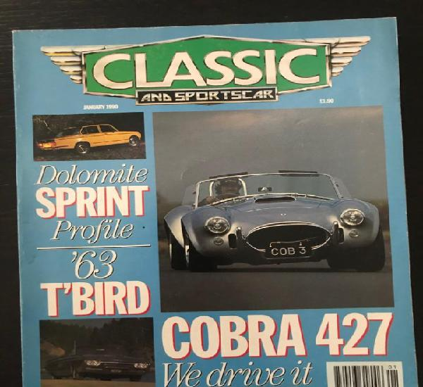 Classic and sportscar - enero 1990 - ac cobra 427 triumph