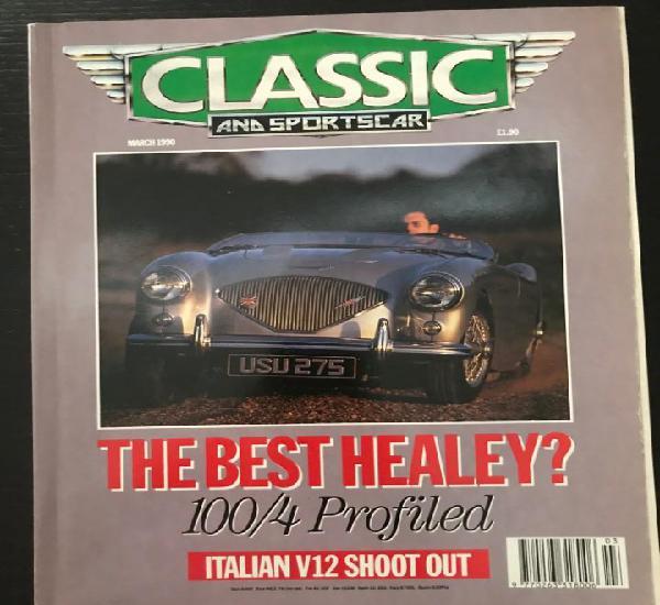 Classic and sportscar - marzo 1990 - austin healey 100