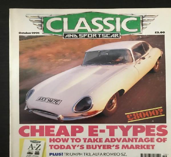Classic and sportscar - octubre 1991 - jaguar e triumph tr3