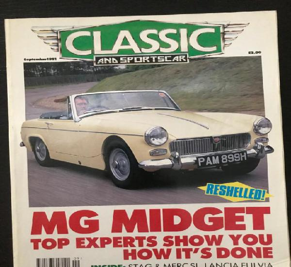 Classic and sportscar - septiembre 1991 - mg midget lancia