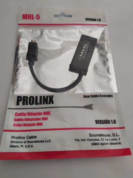Cable/adaptador mhl (microusb a hdmi)