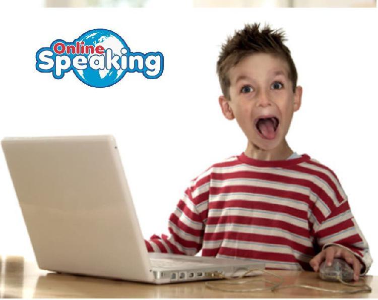 Inglés online kids, 10 hs 75e bono!! individuales