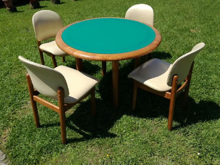 Mesa y cuatro sillas dos opciones vintage