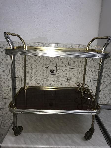 Mueble camarera antiguo.licorera vintage.carro bar